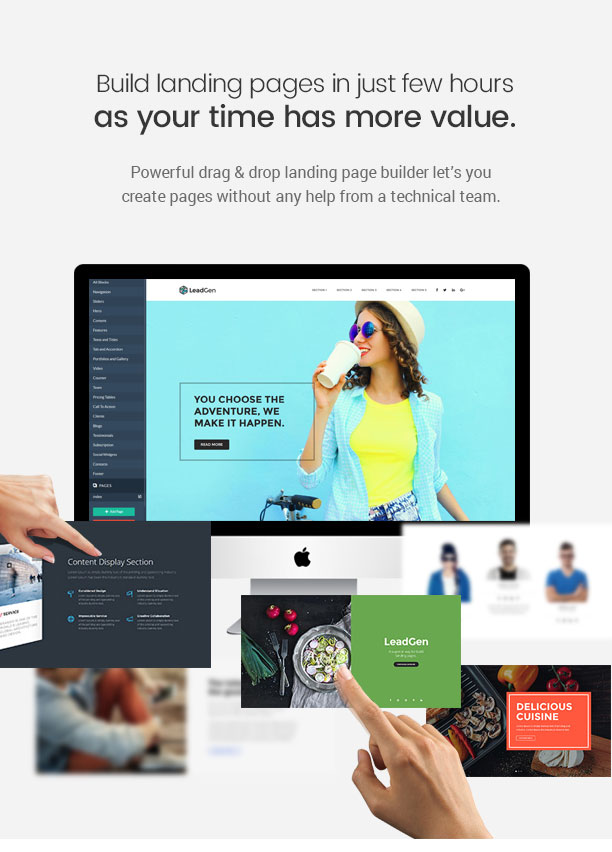 LeadGen - Multipurpose Marketing Landing Page Pack with Page Builder - 8
