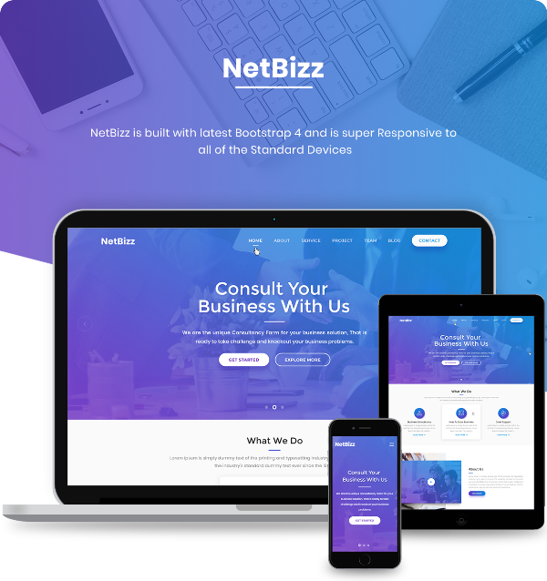 NetBizz Corporate Responsive HTML