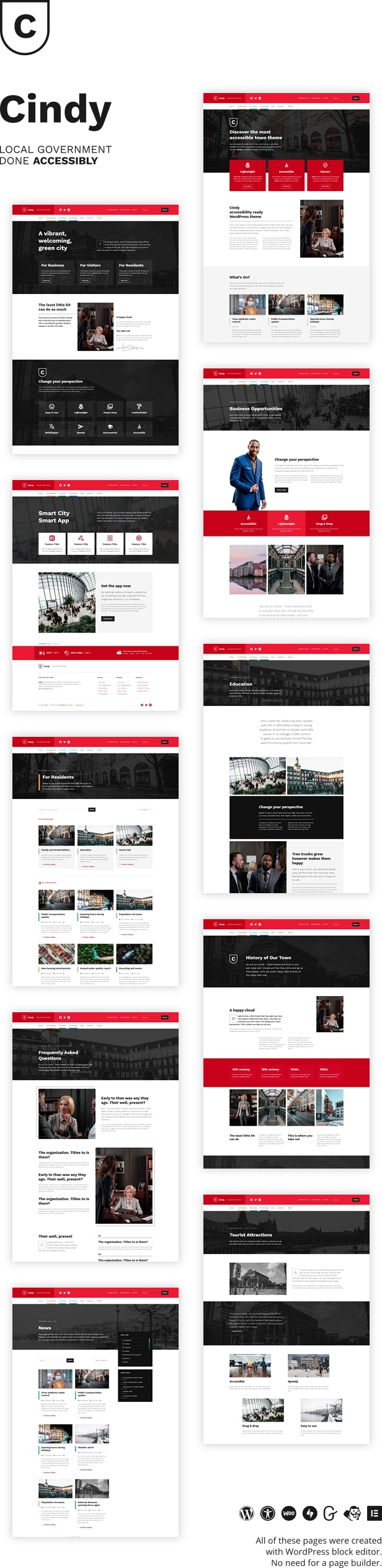 Cindy Accessible Local Government Wordpress Theme By Webmandesign