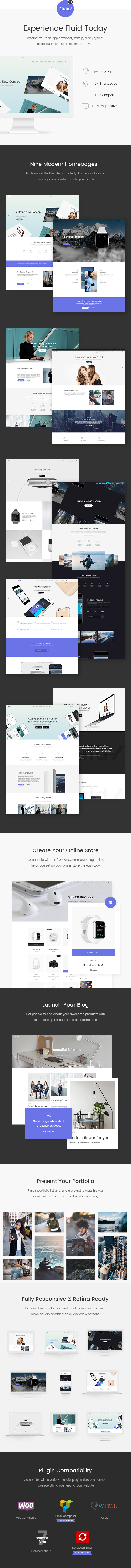 Fluid - Theme for Apps, Startups and Digital Businesses - 1
