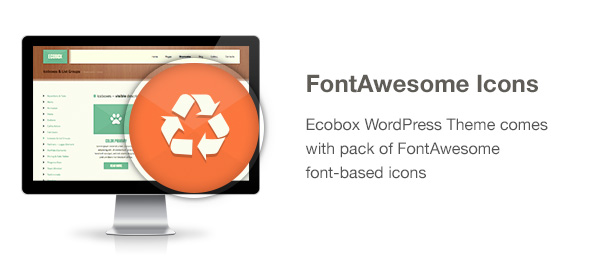 Ecobox WordPress Theme Features: FontAwesome Icons