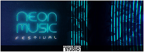 Neon Music Event Template
