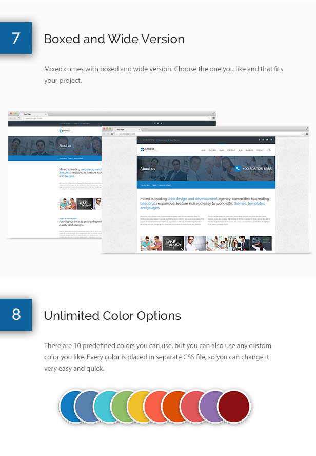 Mixed Modern and Professional HTML Template - 9