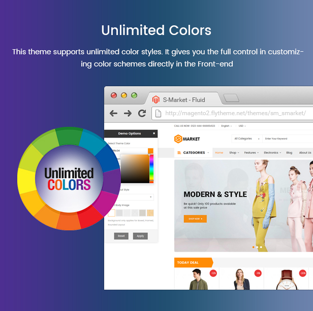 Prestashop Fashion Theme - Unlimited Colors