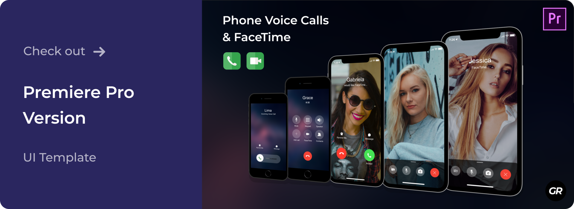 Check out iPhone Calls UI Template