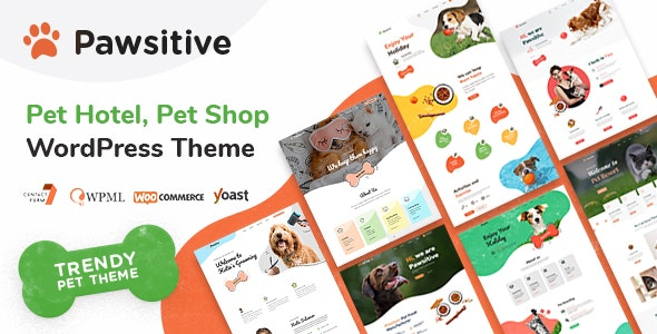 Pawsitive - Pet Hotel & Boarding, Pet Shop - Retail WordPress