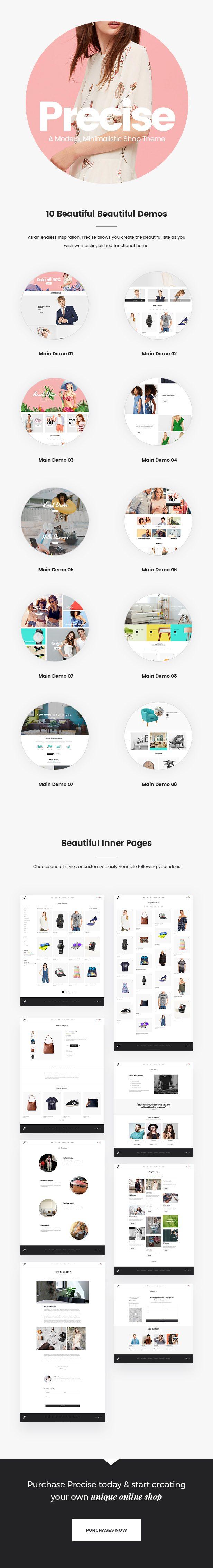 Precise - A Modern, Minimalistic Shop Theme - 1