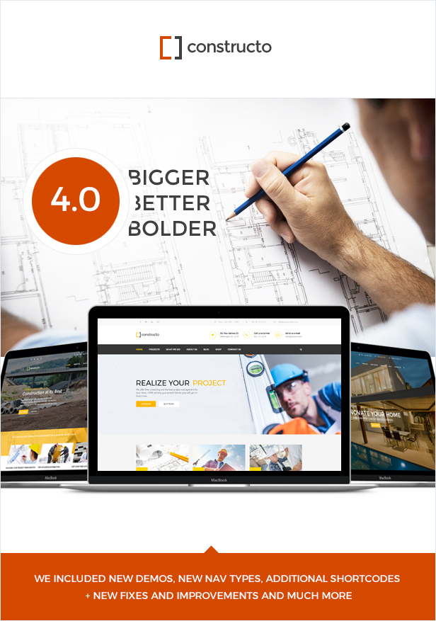 Constructo - Construction WordPress Theme - 1