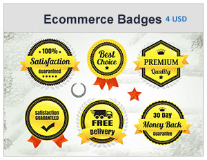 premium quality ecommerce badges