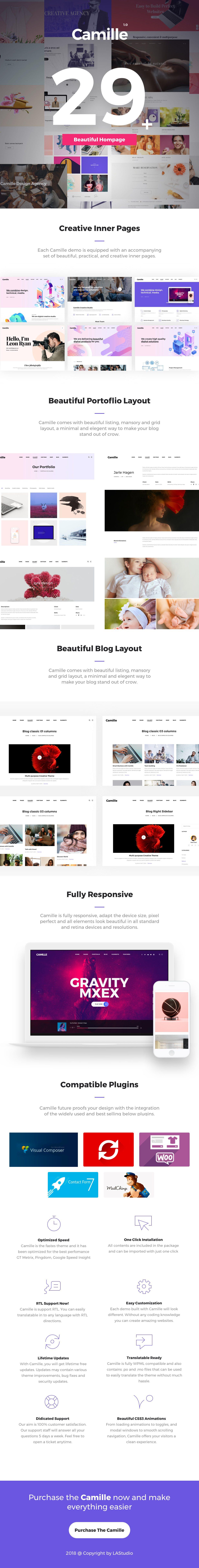 Camille - Multi-Concept WordPress Theme by LA-Studio | ThemeForest