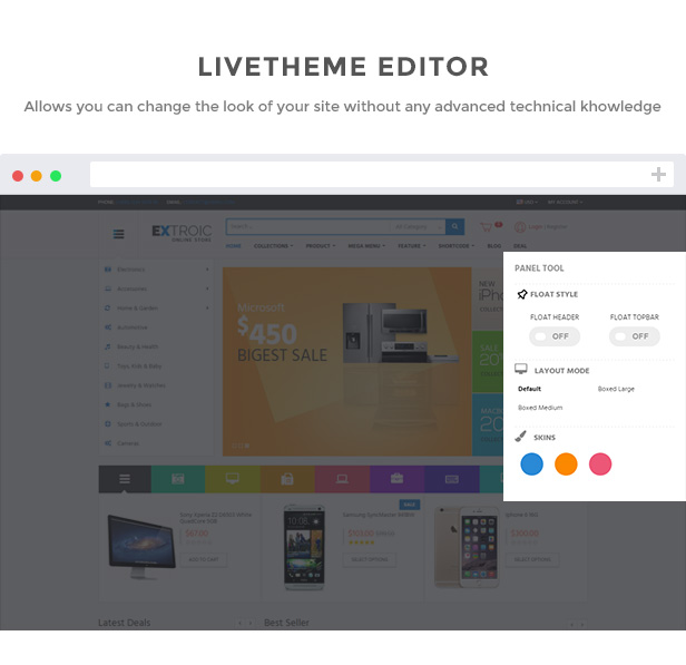 Live editor shopify template