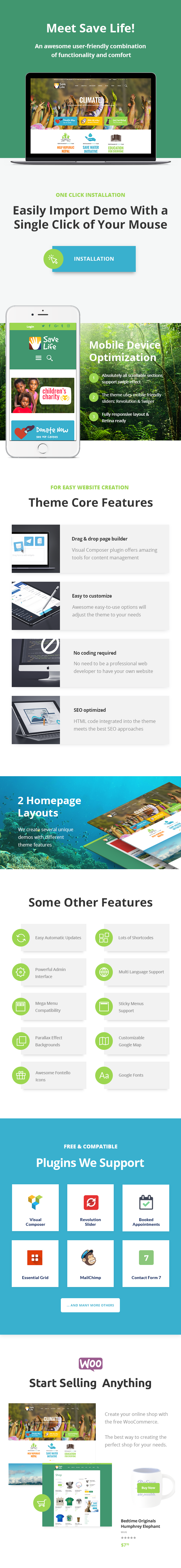 Save Life | Non-Profit, Charity & Donations WordPress Theme - 1