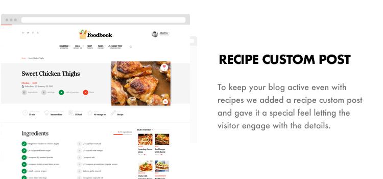 Foodbook - Recipe Community, Blog, Food & Restaurant Theme - 18