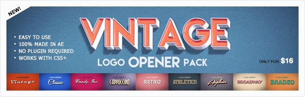 Animill - Vintage Logo Opener Pack