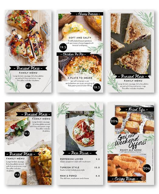 Modern Food Menu Instagram Stories - 1