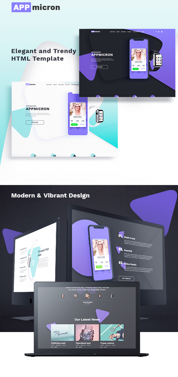 APPMICRON - HTML Application Landing Page