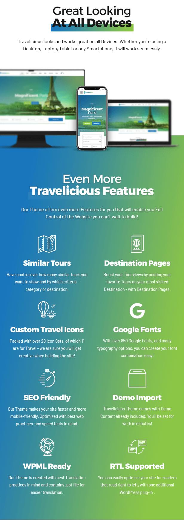 Travelicious - Tourism, Travel Agency & Tour Operator WordPress Theme - 9