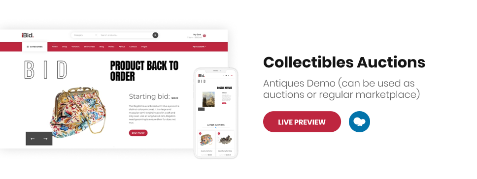 iBid - Multi Vendor Auctions WooCommerce Theme - 6