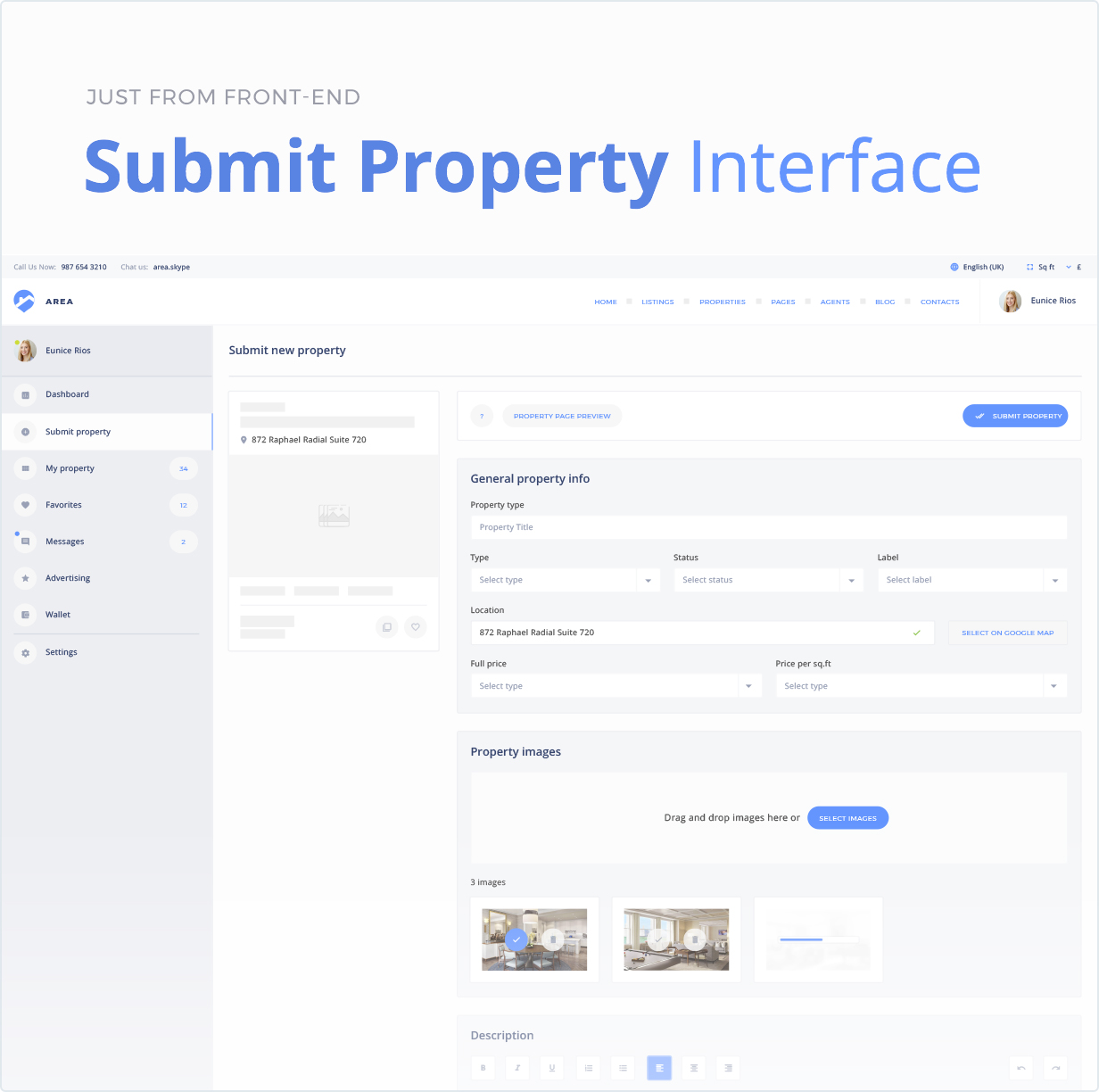 Submit Property Interface