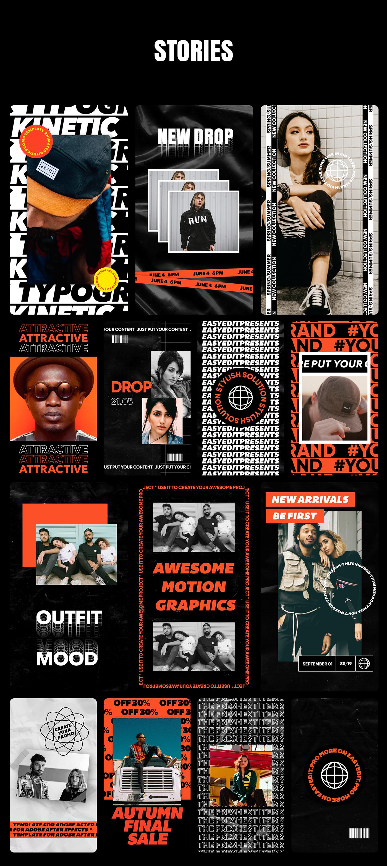 AE脚本-200多个创意文字标题排版时尚宣传视频包装动画工具包 Kinetic Social Pack for Win/Mac破解版插图13