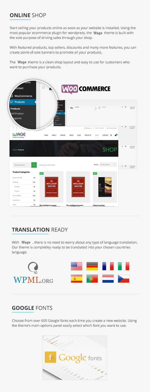 Wage - Business and Finance WordPress Theme