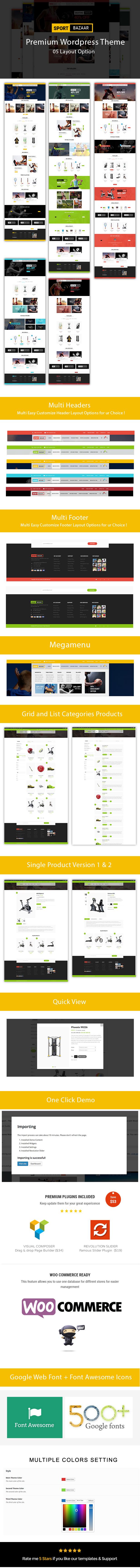 Sport Bazzar - Sports, Fitness and Gym Responsive WooCommerce WordPress Theme - 1