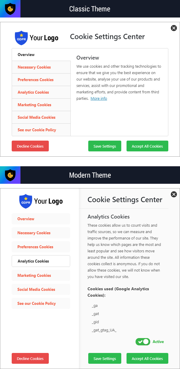 Cookie Plus - GDPR Cookie Consent Solution for WordPress - 9