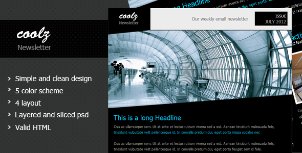 Coolz Minimal Newsletter