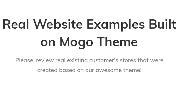 Real stores based on MOGO theme