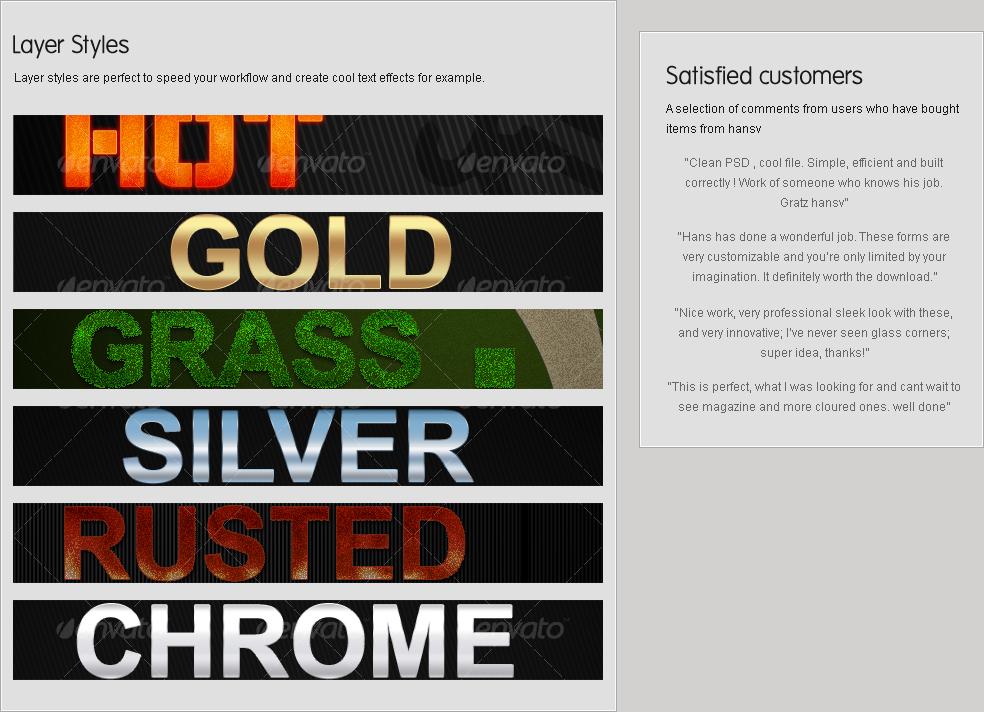 Grass and flowered grass text styles - 1