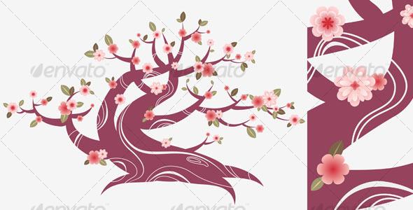 cherry blossom spring tree background