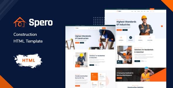Spero - Construction & Renovation HTML Template