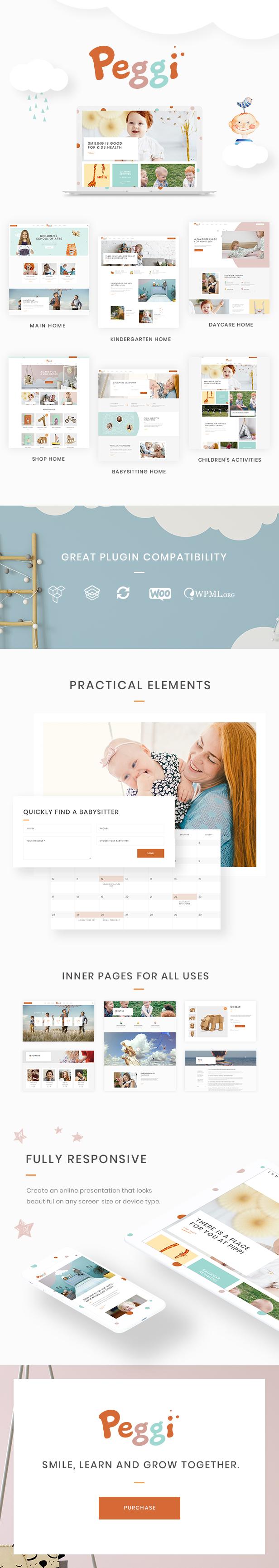 Peggi - A Multipurpose WordPress Children Theme