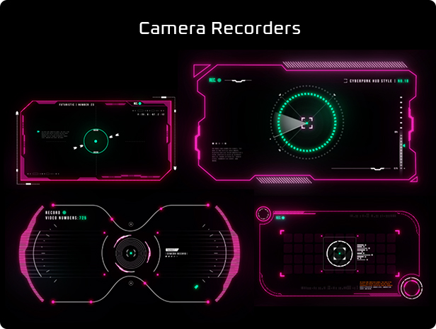 Cyberpunk HUD Elements for After Effects - 8