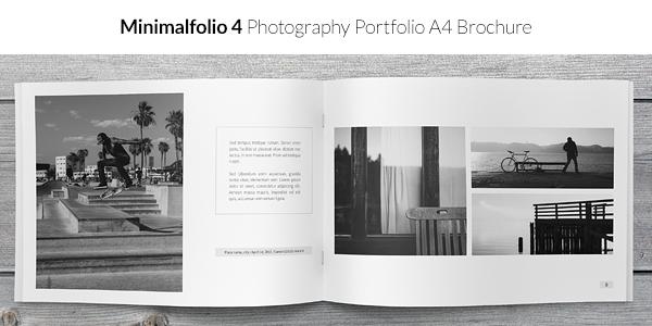 Minimalfolio 4 Photography Portfolio A4 Brochure