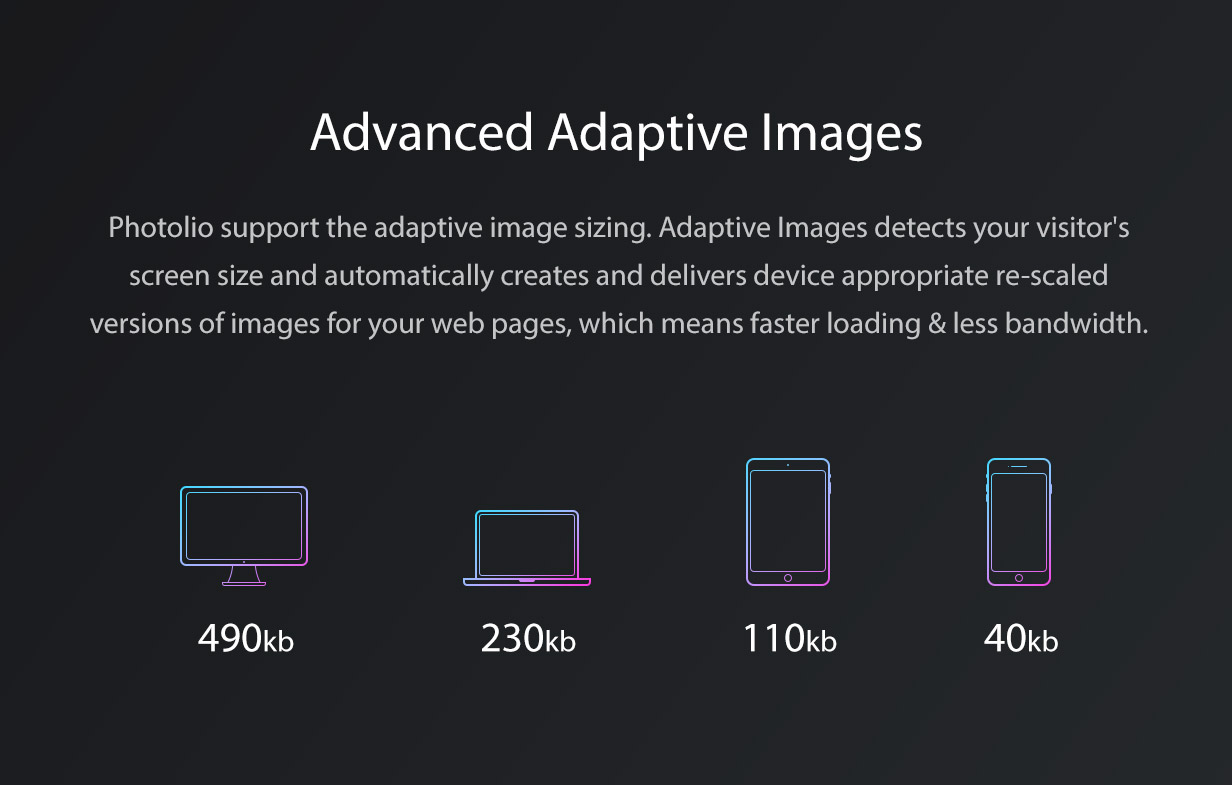Photolio WordPress Adaptive Images