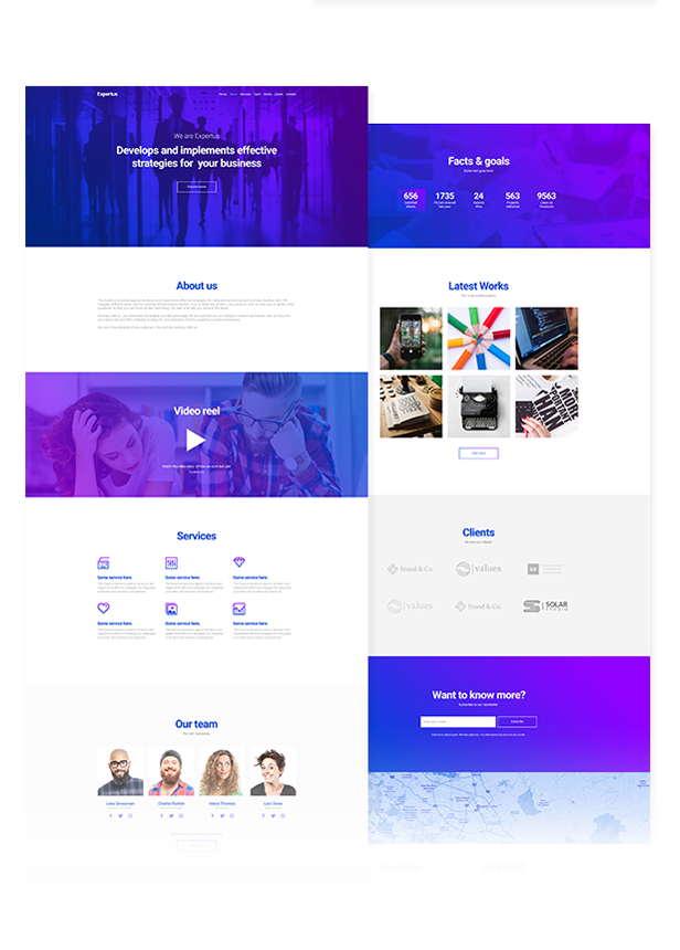 Expertus - Business / Corporate / Company Responsive Muse Template - 2