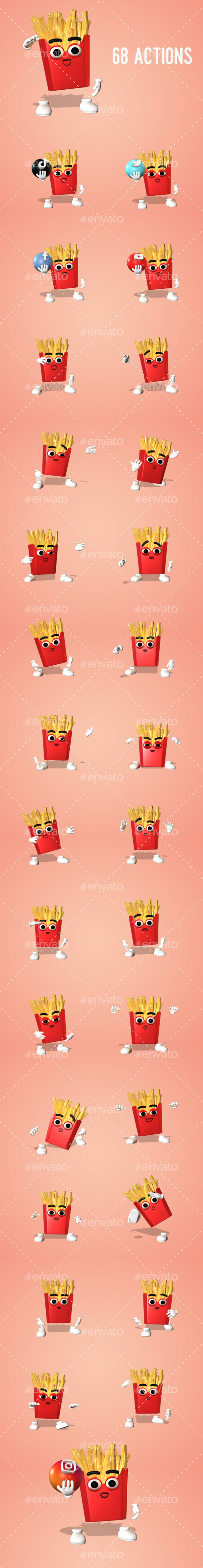French Fries - Character Kit - 2