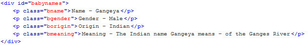 Baby Names Database for Wordpress - 1
