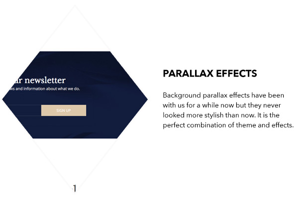 Parallax effects