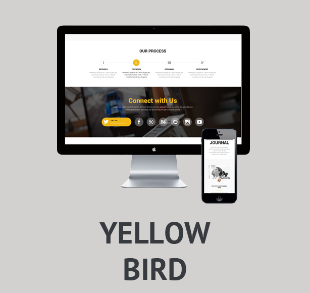Yellow Bird - multipurpose onepage theme