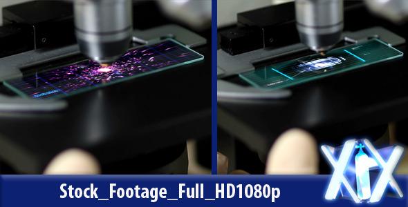 Futuristic Microscope | Stock Footage