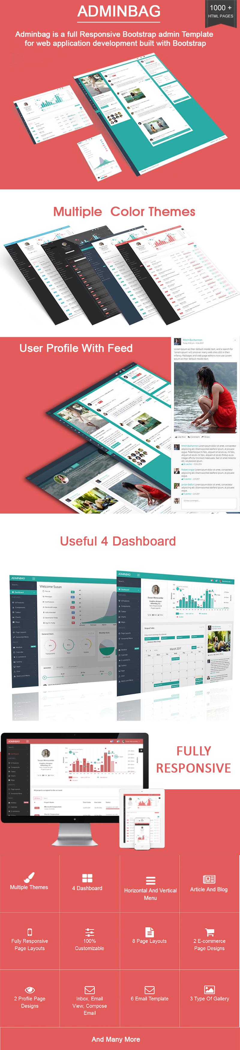 Admin bag - Angular Admin Responsive Template &  Dashboard - 1