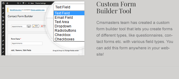 Wordpress Contact Form Builder for Law Business Theme
