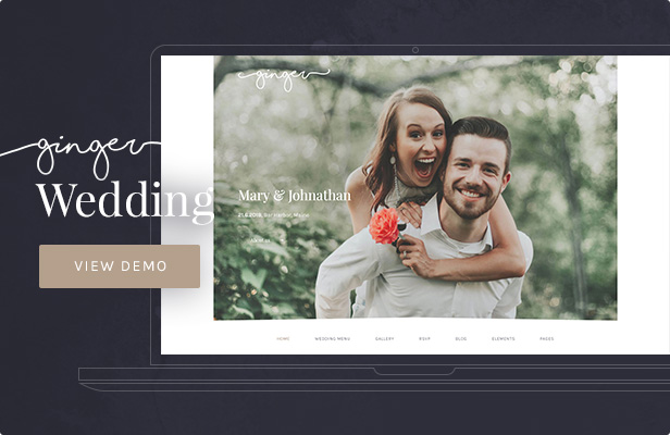 Ginger — Wedding WordPress Theme