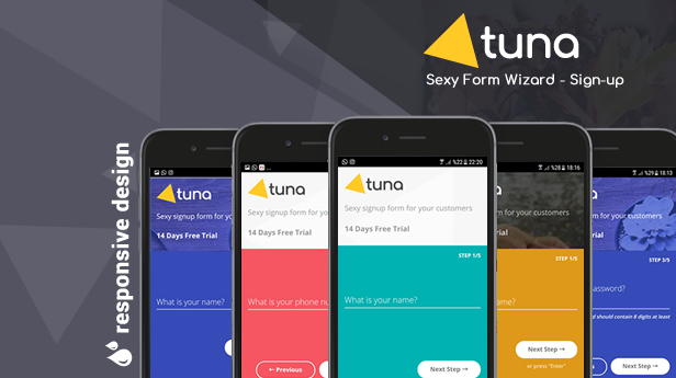 Tuna Form Wizard, Signup, Login, Reservation and Questionnaire - 2