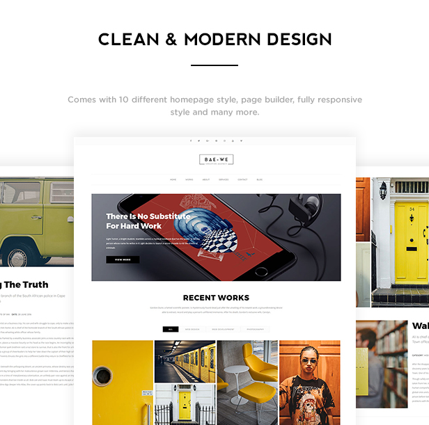 Baowe - Responsive One/Multi Page Portfolio WordPress Theme - 1