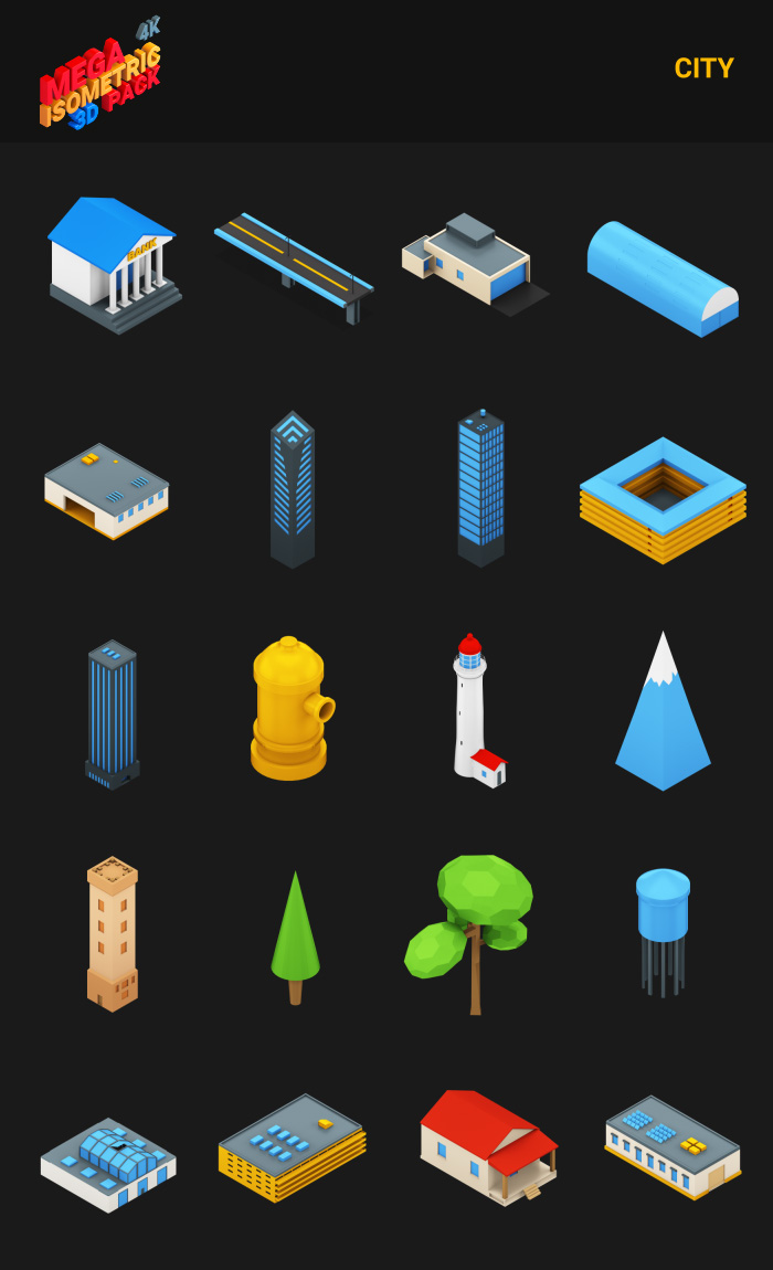 Isometric Mega Pack - 13