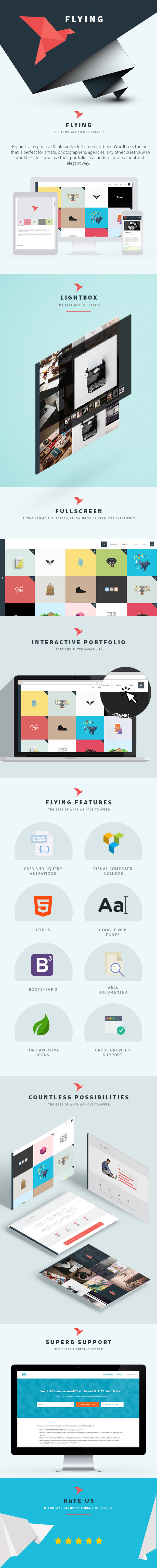 Flying - Interactive WordPress Theme