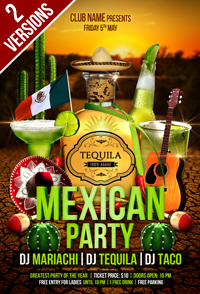 Mexican Party Flyer - 1